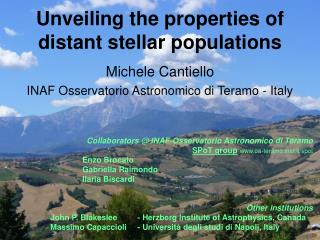 Unveiling the properties of  distant  stellar populations