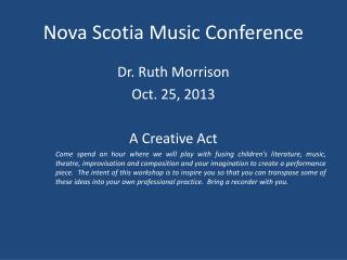 Nova Scotia Music Conference
