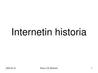 Internetin historia