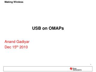 USB on OMAPs