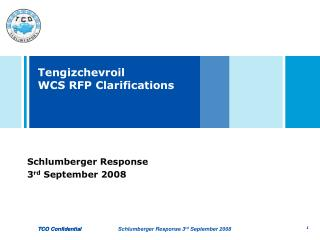 Tengizchevroil   WCS RFP Clarifications
