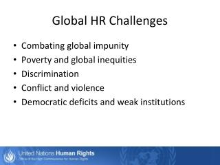 Global HR Challenges