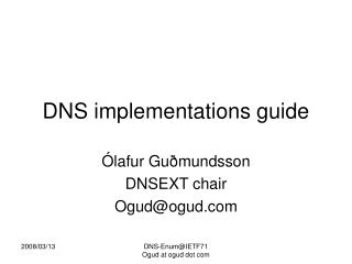 DNS implementations guide
