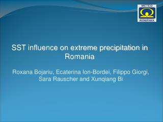 SST influence on extreme precipitation in Romania