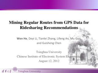Mining Regular Routes from GPS Data for Ridesharing Recommendations