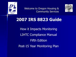 2007 IRS 8823 Guide