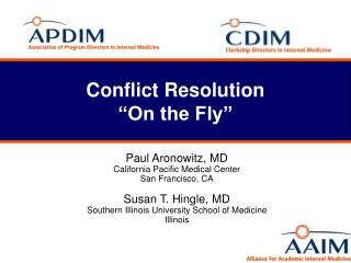 """Conflict Resolution  """"On the Fly"""""""
