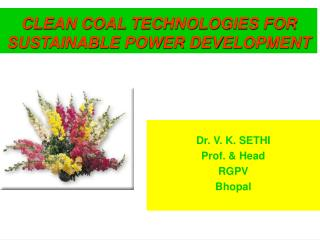 Dr. V. K. SETHI Prof.  Head RGPV Bhopal