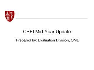 CBEI Mid-Year Update