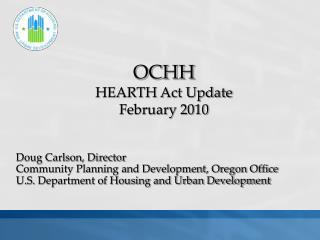 Doug Carlson, Director Community Planning and Development, Oregon Office