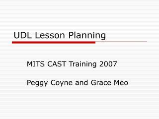 UDL Lesson Planning