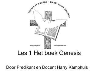 Les 1 Het boek Genesis