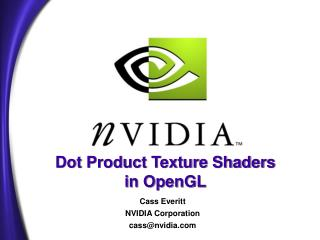 Dot Product Texture Shaders in OpenGL