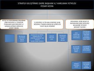 STRATEJİ GELİŞTİRME DAİRE BAŞKANI V./ HARCAMA YETKİLİSİ FEDAYİ KESİN