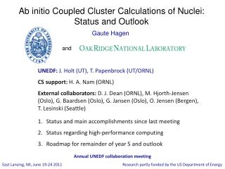Ab initio Coupled Cluster Calculations of Nuclei: Status and Outlook