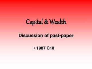 Capital  Wealth