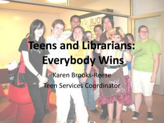 Karen Brooks-Reese Teen Services Coordinator