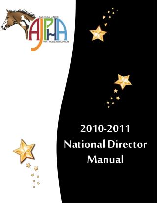 2010-2011    National Director Manual