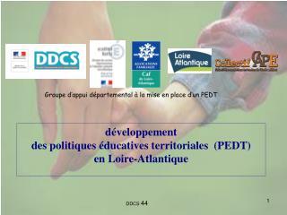 développement  des politiques éducatives territoriales  (PEDT) en Loire-Atlantique