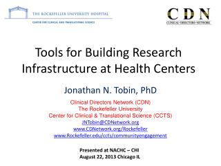 Tools for Building Research Infrastructure at Health Centers