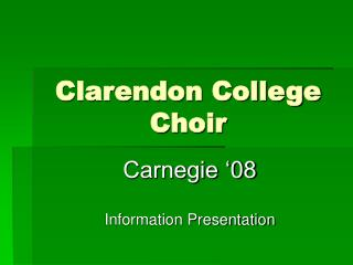 Clarendon College Choir