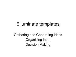 Elluminate templates