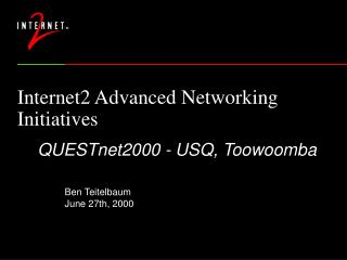 Internet2 Advanced Networking Initiatives