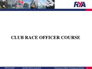 CLUB RACE OFFICER COURSE