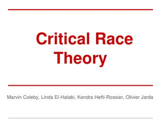 Critical Race Theory