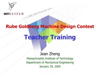 Rube Goldberg Machine Design Contest Teacher Training