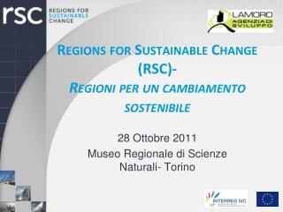 Regions for Sustainable Change (RSC)- Regioni  per un  cambiamento sostenibile