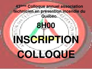 INSCRIPTION COLLOQUE