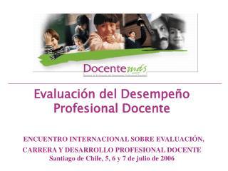 1. Características generales del sistema de evaluación docente