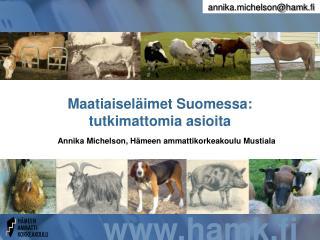 Maatiaisel�imet Suomessa: tutkimattomia asioita