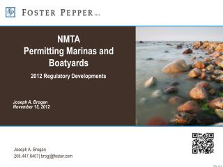 NMTA Permitting Marinas and Boatyards 2012 Regulatory Developments