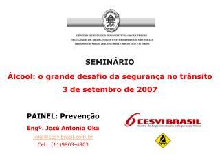 SEMINÁRIO Álcool: o grande desafio da segurança no trânsito 3 de setembro de 2007