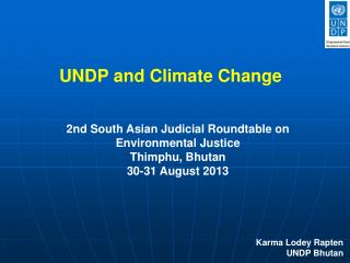 UNDP and Climate Change
