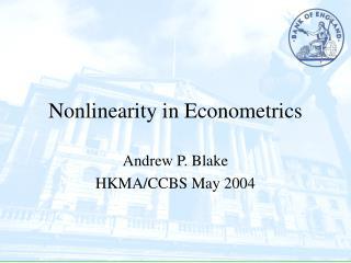 Nonlinearity in Econometrics