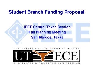 Student Branch Funding Proposal