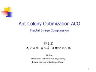 Ant Colony Optimization ACO Fractal Image Compression