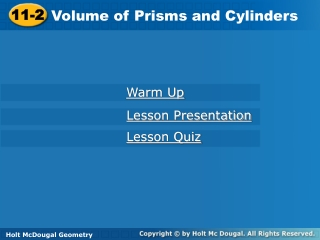 Sec. 11   2  Surface Area of Prisms  Cylinders