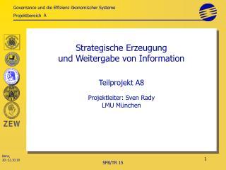 Strategische Erzeugung  und Weitergabe von Information Teilprojekt A8