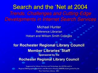 Michael Hunter Reference Librarian Hobart and William Smith Colleges
