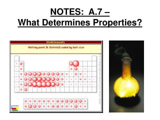 NOTES:  A.7 –  What Determines Properties?