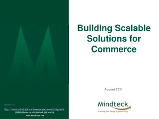Building Scalable Solutions for Commerce