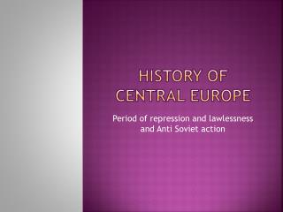 History of central  europe