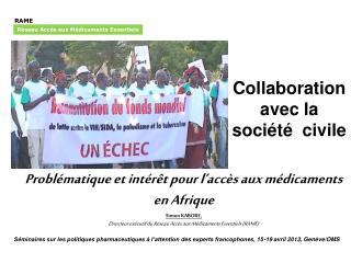 Collaboration avec la société civile