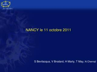 NANCY le 11 octobre 2011