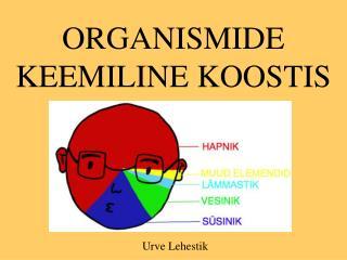 ORGANISMIDE KEEMILINE KOOSTIS