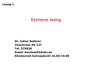 Esimene loeng